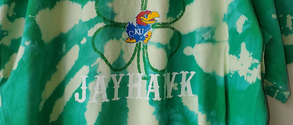 Vintage Tie Dye ROCK CHALK JAYHAWK Shirt-2XL