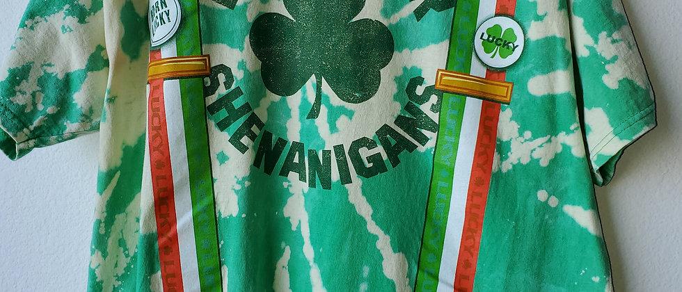Vintage Tie Dye DOWN FOR SHENANIGANS Shirt-XL