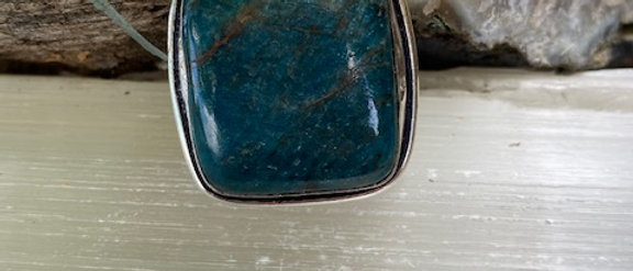 Blue Apatite Ring Size 7