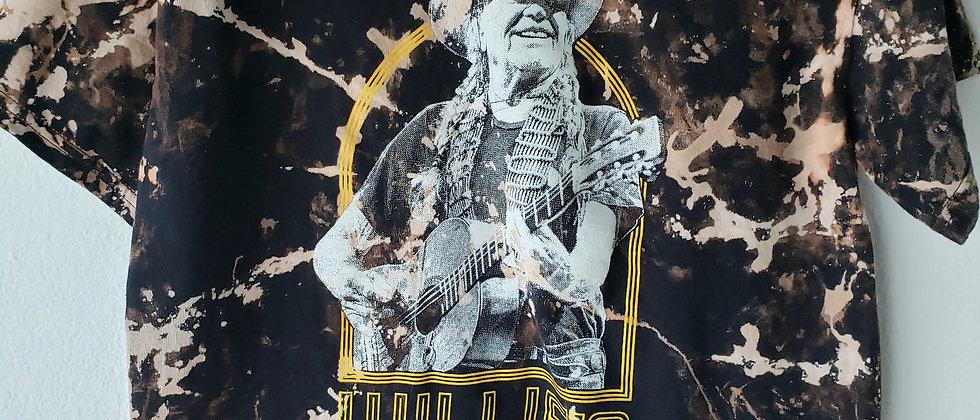 Willie Nelson Acid Splashed Tee Shirt