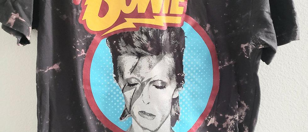 Distressed/Acid Splashed Bowie Tee Shirt
