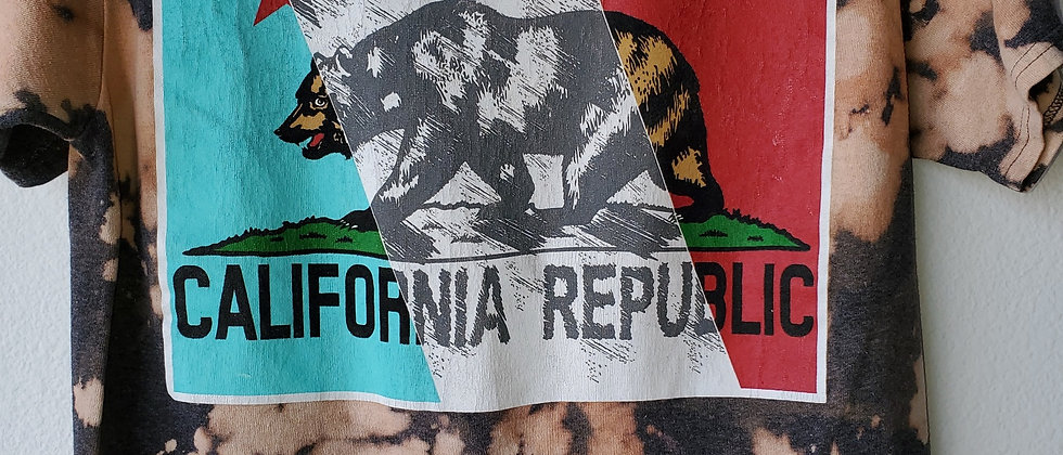 Vintage Tie Dye CALIFORNIA REPUBLIC Shirt-Small