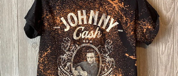 Johnny Cash Adult Acid Splashed T-Shirt