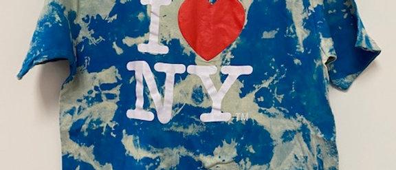 Vintage Tie Dye I Love New York Shirt-XL