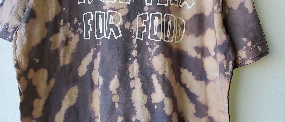 Vintage Tie Dye WILL FLEX FOR FOOD Shirt-Large