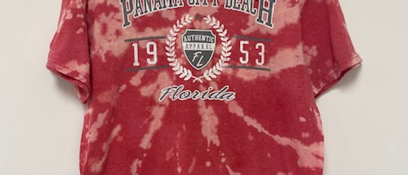 Vintage Tie Dye PANAMA CITY BEACH Shirt-Medium