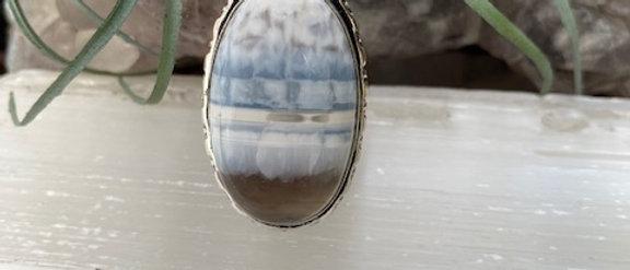 Owyhee Blue Opal Ring Size 6