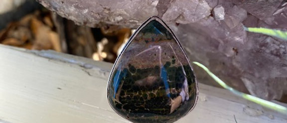 Ocean Jasper Ring Size 8