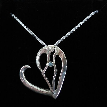 Israel in my Heart Ring Saver Pendant