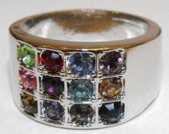 "Rhodium ""Choshen"" Ring"