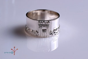 """Silver """"Eternal Temple"""" Ring"""