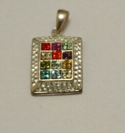 """Choshen"" Silver Pendant no. 7 and chain"