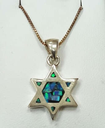 """Magen David "" Silver Pendant Double Sided no. 70"