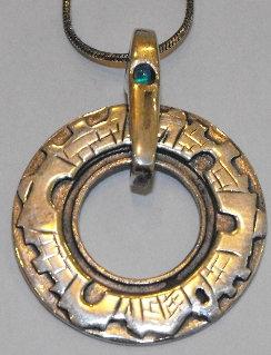 """Jerusalem Walls"" Silver Round Pendant"