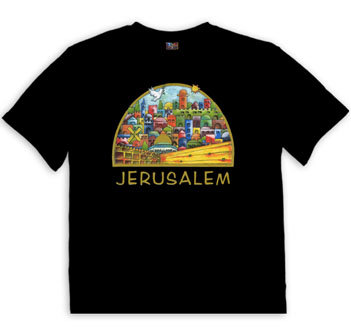 T Shirt with Jerusalem view