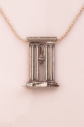 The Silver Temple and Altar Necklace
