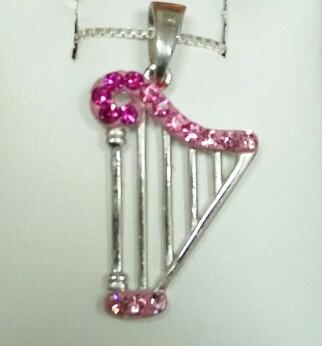 Harp Silver Pendant