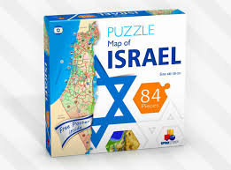 Puzzle Map of Israel 84 Pieces