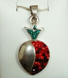 """Pomegranate"" Silver Pendant no. 3"
