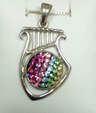 Lyre Silver Pendant no. 2