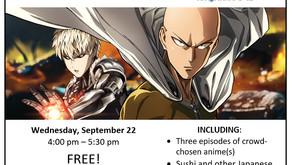 Anime Club Resumes in September