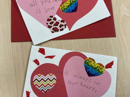 We Received Valentine's Cards!