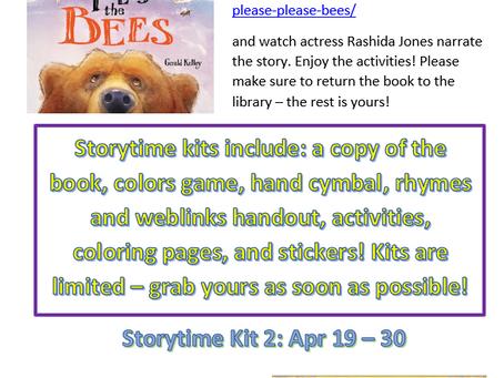 April Storytime Online Books