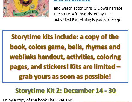 December Storytime Books