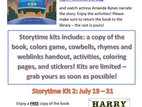 July Storytime Online - Sneak Peak