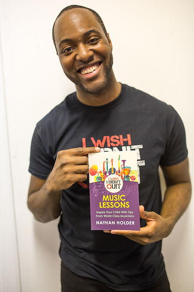 Author Nathan Holder with I Wish I Didn't Quit