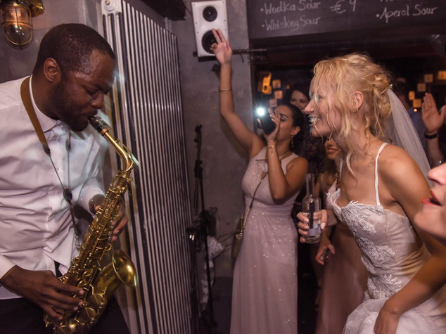 Nate Holder Wedding saxophone