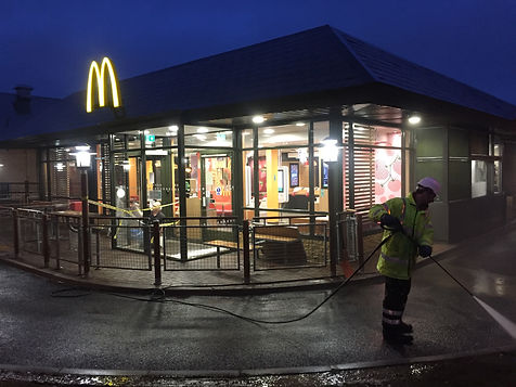 Mcdonalds clean pressure washer night