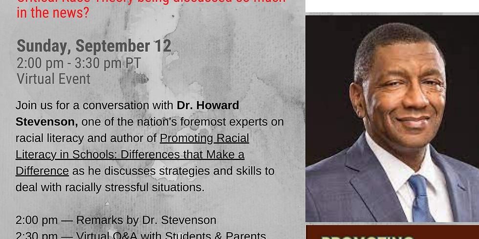 PSV: A Conversation with Dr. Howard Stevenson & Racial Literacy Workshop