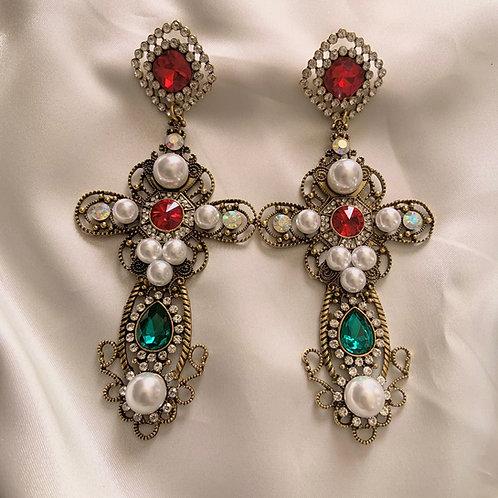 Noelle Cross Earrings