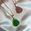 Thumbnail: Jade Crystal Buddha Necklace