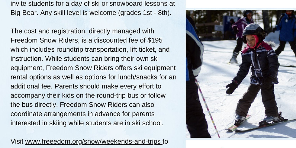 PSV: Ski School Day Trip (UPDATED DATE)