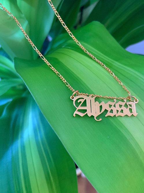 Gia Figaro Name Necklace