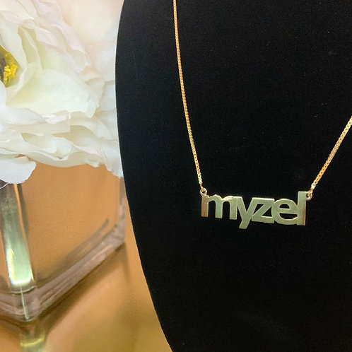 Block Name Necklace