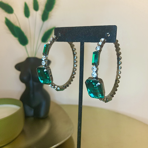 Emerald Hoops