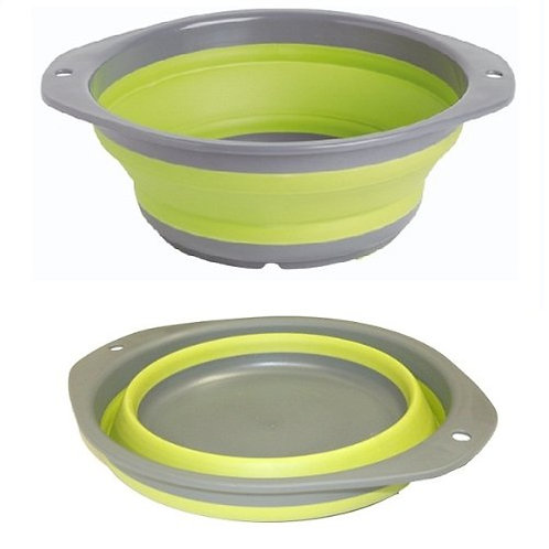 Collapse Bowl L Lime Green