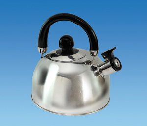 CHROME 1.6 Ltr Gas Hob Kettle with Folding Handle