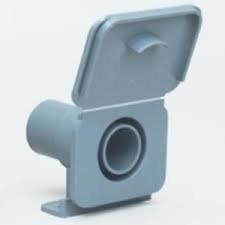 Hose Socket with flap 28mm