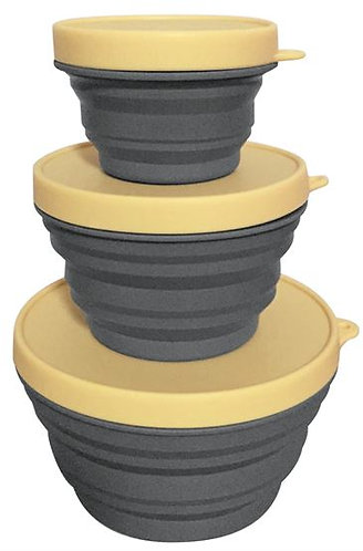 Three - Piece Collapsible Bowl Set