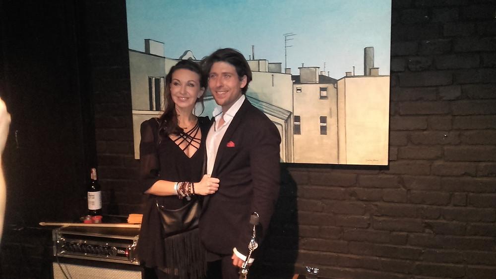 Magdalena Jankowska i Michał Sołtan w tle obraz autorstwa Magdy