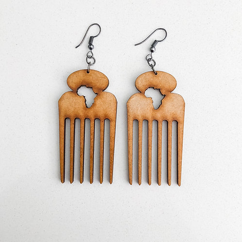 Jems Of A Natural Afro-comb Earrings
