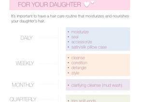 Natural Hair Care Routine For Your Daughter