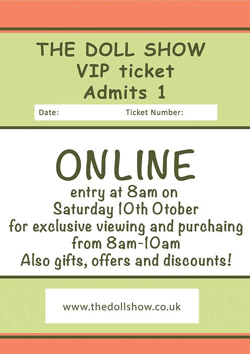 Online VIP ticket, October Show