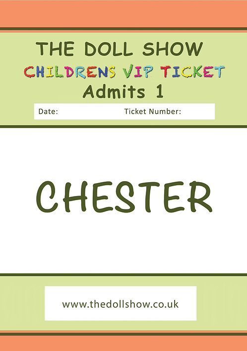 CHILDRENS VIP CHESTER (NOV) 01/11/20