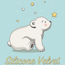 medium res silicone velvet bear logo tig