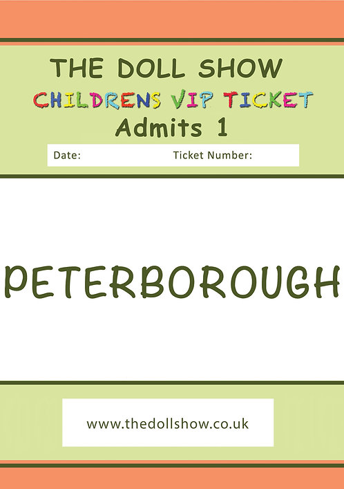 CHILDRENS Premium VIP ticket, 13th &14th June 2020